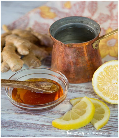 Lemon, ginger & cider vinegar morning drink